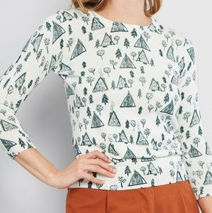 Modcloth Sweaters - Modcloth Cozy Locales 3/4 Sleeve Christmas Sweater